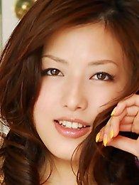 Big tits japan idols Meisa Hanai in white lingerie