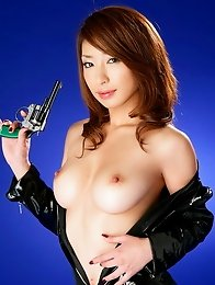 Big tits japan idol Mika Kayama with hairy pussy