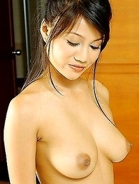 Brunette and busty asian babes