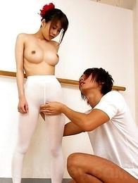 Asian Ririka Suzuki gets rammed