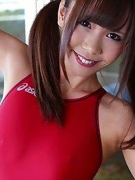 Busty and cute Japanese av idol Mikuru Mio shows her amazing naked body