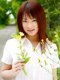 Big boobs japanese cutie Minori Hatsune stripped on farm