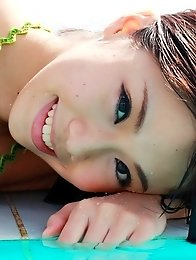 Fumina Suzuki posing her big boobs