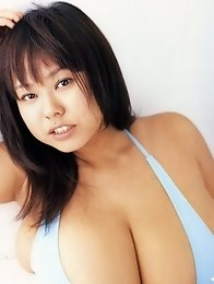 Fuko posing her gigantic natural tits in several outfits