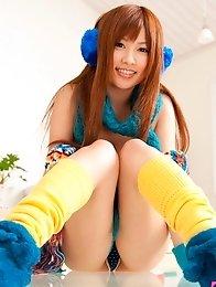 Japanese av idol Kokomi Naruse posing in sexy lingerie