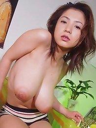 Anna Ohura posing natural big tits
