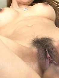 Ryuu Narushima Asian busty sucks and rides hard joystick so well