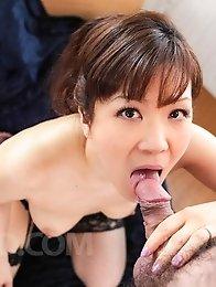 Ichika Asagiri Asian licks and sucks penis she rubs with boobs