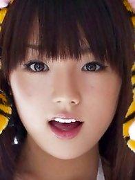 Busty gravure idol hottie dressed up as a cute little tiger