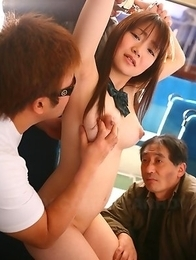 Pale Yayoi Yoshino gets slammed