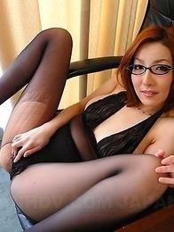 Yuna Hirose is a sweet office slut