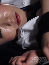Amateur Mana Satomi gets fed thick cock.