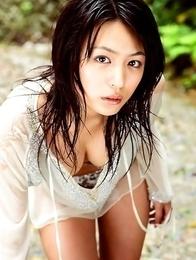 hottie Yukie Kawamura has her big plump breasts wrapped in a bikini