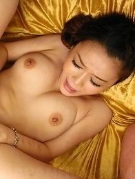Hot Asian Minako Uchida sucks and rubs cock