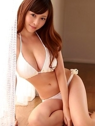 Anri Sugihara has huge hooters and fine ass in lingerie