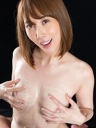 Aya Kisaki threesome titjob