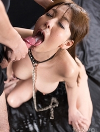 Face fuck slut Akari Asagiri begs for cock to be shoved in her mouth and she gets just that!