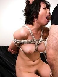 Bondage slave Akari Misaki loves to be tied up and abused.